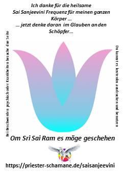 Ich danke für die heilsame Sai Sanjeevini Frequenz für meinen ganzen Körper … jetzt denke daran  im Glauben an den Schöpfer … Om Shri Sai Ram es möge geschehen